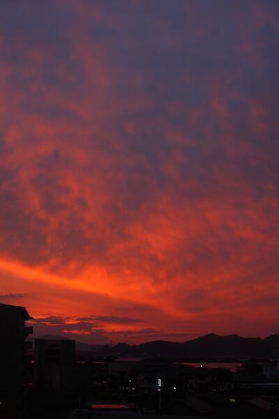 笠岡の夕空