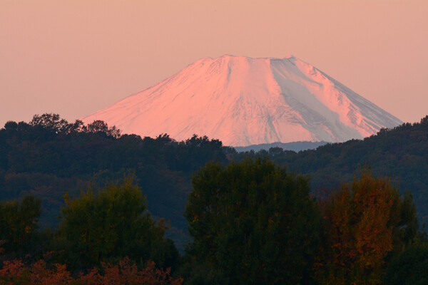 富士染まる