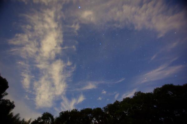 星はいっぱい見えたけど