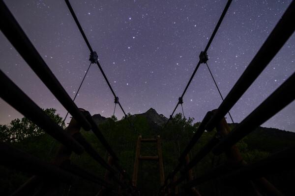 明神橋の星空