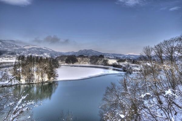 冬の最上川 3