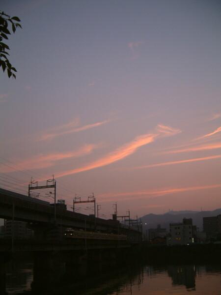 夕焼け雲とローカル線(その2)