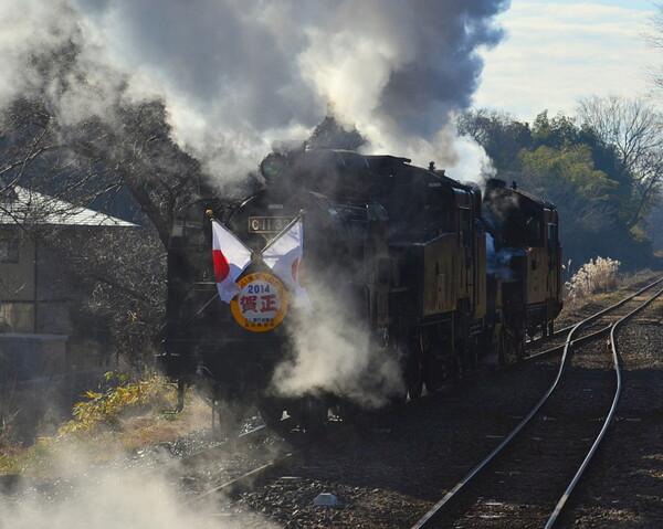 蒸気機関車重連逆向き運転 2