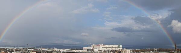 虹が・・・・