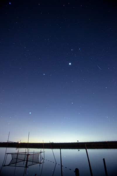 ふたご座流星群の朝
