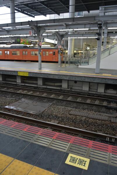 大阪駅  TWILIGHT EXPRESS 瑞風の停車位置表示