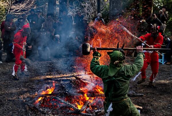 【春よ〜♪】赤・緑レンジャーの火の舞