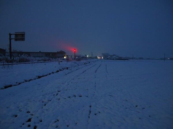 雪の朝。(佐賀県)