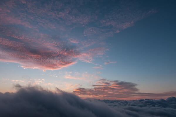 【広がり】雲海Ⅱ(おまけに朝焼け)