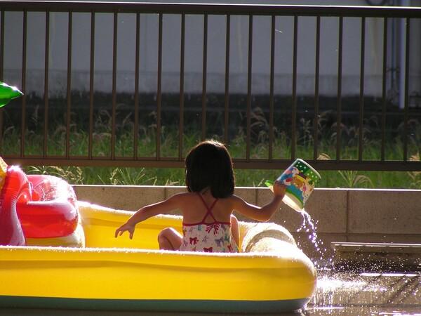 【夏の凉】水遊び