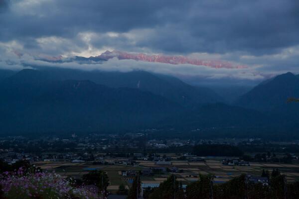 雲の隙間のモルゲンロート