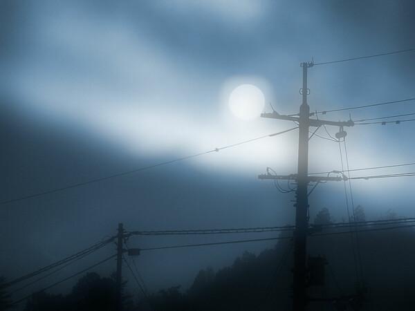 霧深い朝・・・