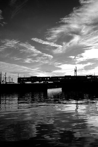 【白黒写真】電車