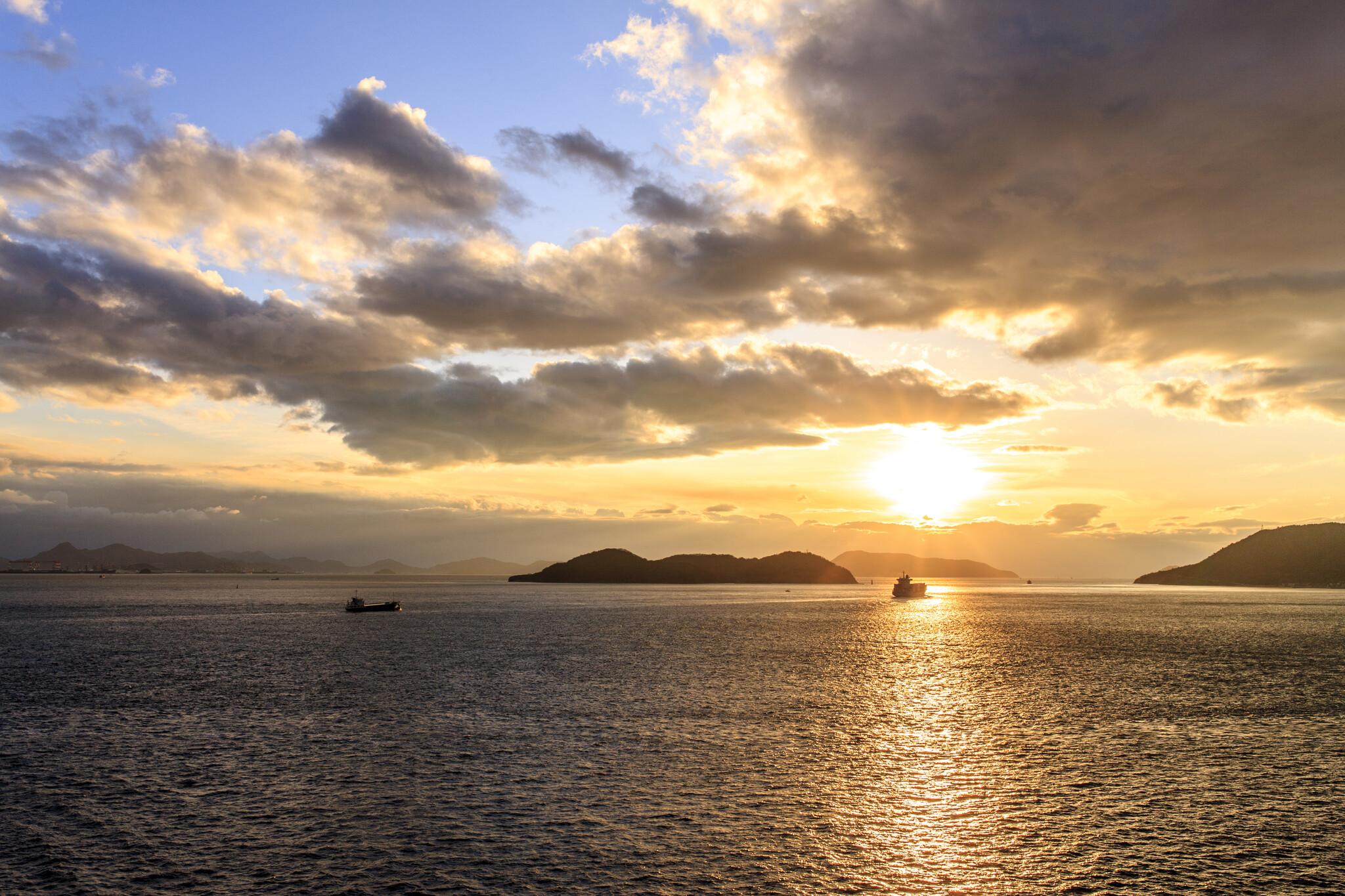 夕景 与島