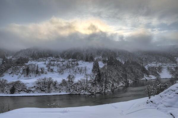 冬の最上川 2