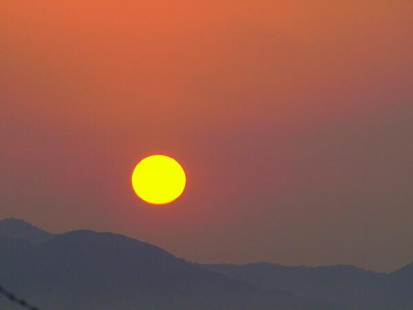 太陽の色の【変化】