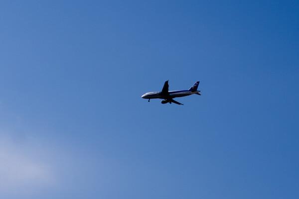 鳥取空港着陸前!