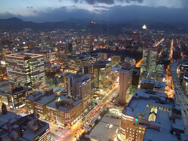 札幌の薄暮