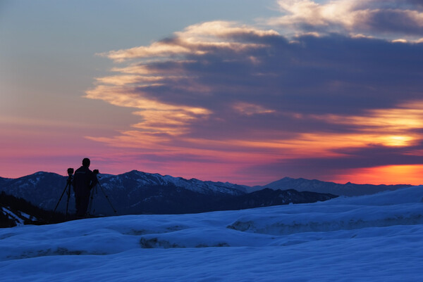 山田峠からの朝日