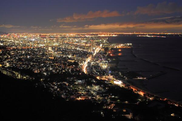 須磨浦山上遊園からの眺め