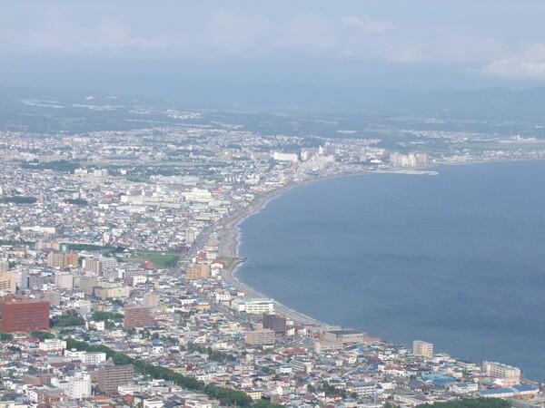 日中の函館山からの風景