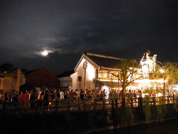 満月と山車祭り