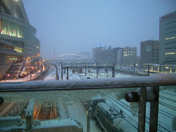 雪景色のアリーナ