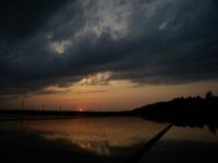 雷雨の後の夕日・・・^^;