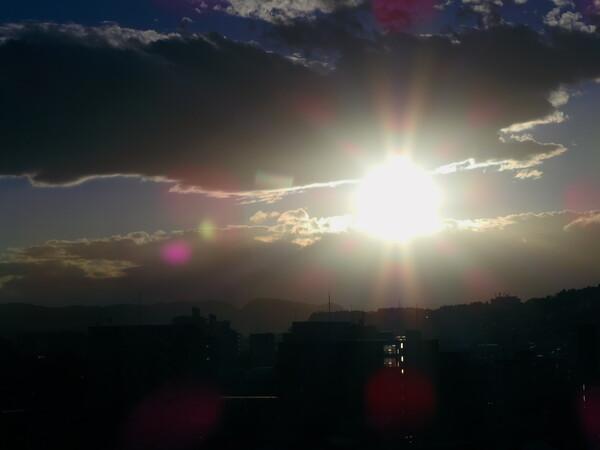 何にもない日の夕日