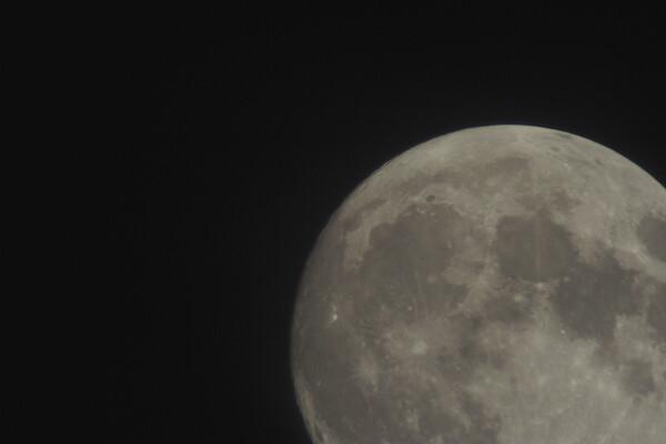 月が撮っても綺麗なの〜。