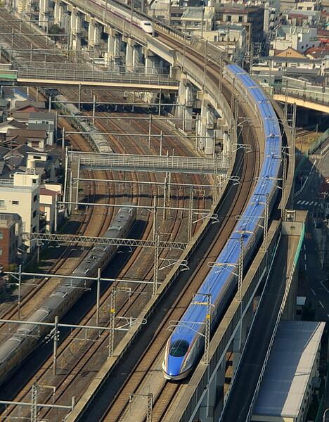 北陸新幹線用E7系俯瞰