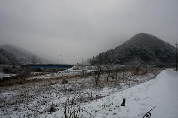 雪景色に・・。