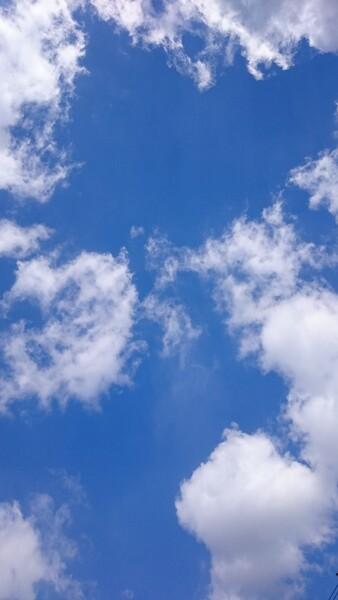 美しい感田の澄みきった空