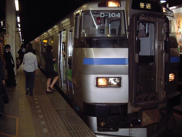 ローカル列車で帰宅