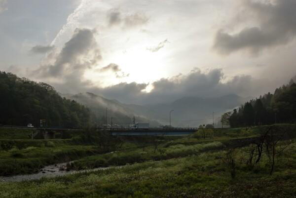 雲の多い朝!