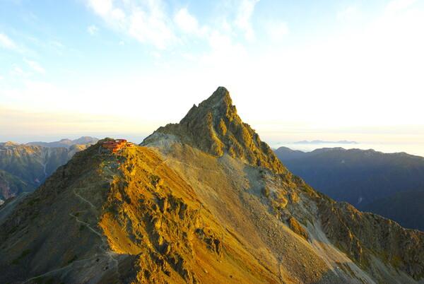 10月の赤い槍ヶ岳