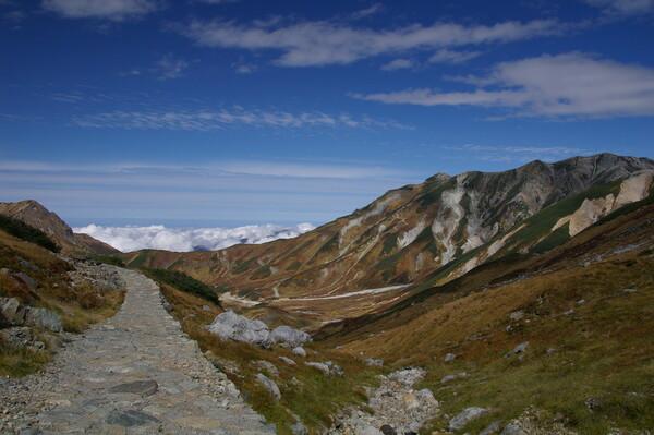 立山連峰と雲海