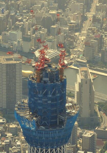 東京スカイツリー工事風景