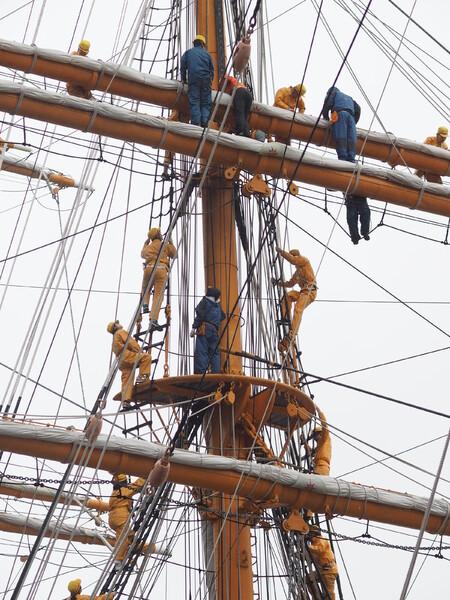 帆船 日本丸(初代)練習風景1