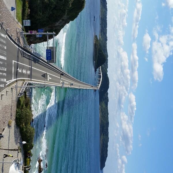 【色】青い空青い海