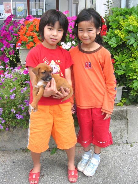 沖縄のワンちゃんとお嬢ちゃん