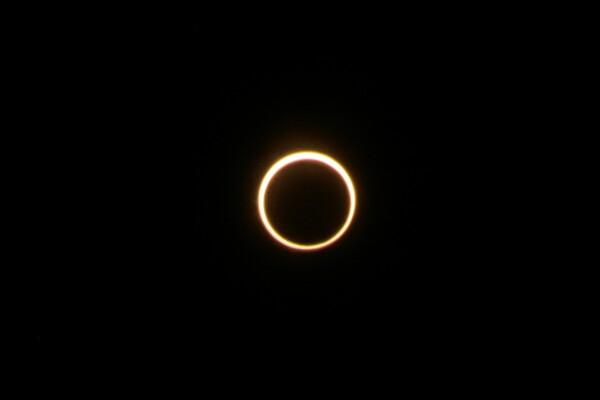 熊谷で最大金環日食