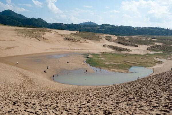 砂丘のすり鉢。