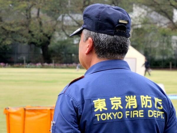 男の背中 消防士編