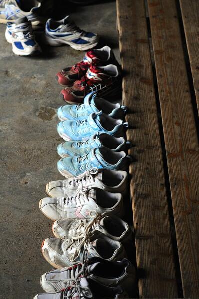 【靴】 主人を待つ