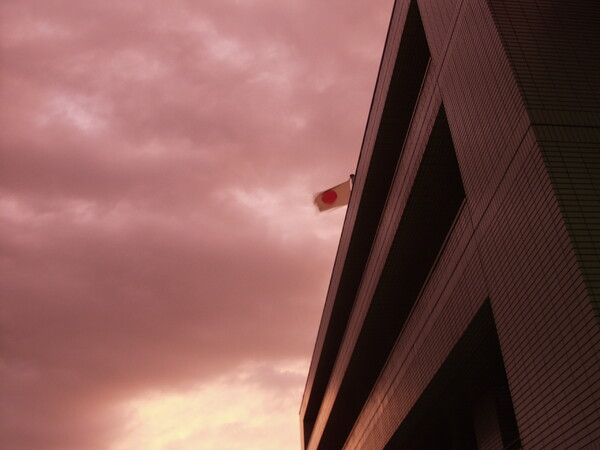 風の強い夕方