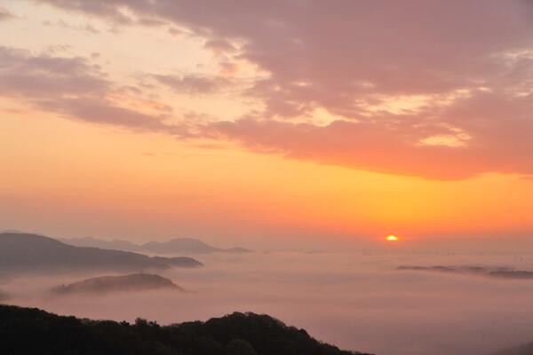 雲海に朝日が昇る