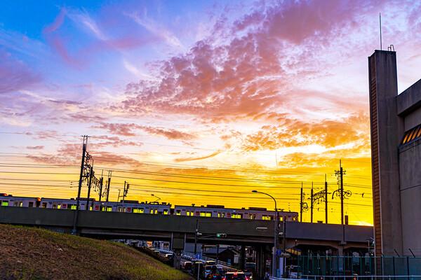 【だいだい】地下鉄 夕陽を見る