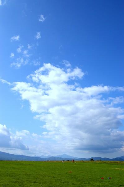 青い空、そして、白い雲・・・