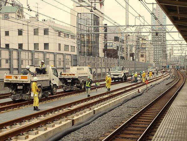上野東京ライン工事風景